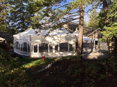 Sunny Slope Bed and Breakfast Wedding Tent